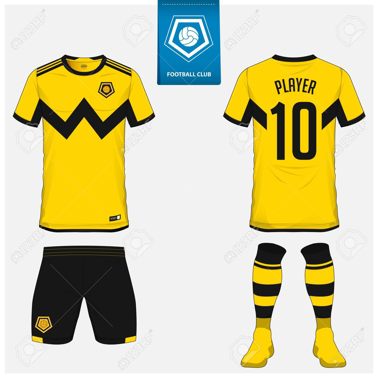 710df6014 Soccer jersey or football kit, shorts, sock template design for sport club.  Football