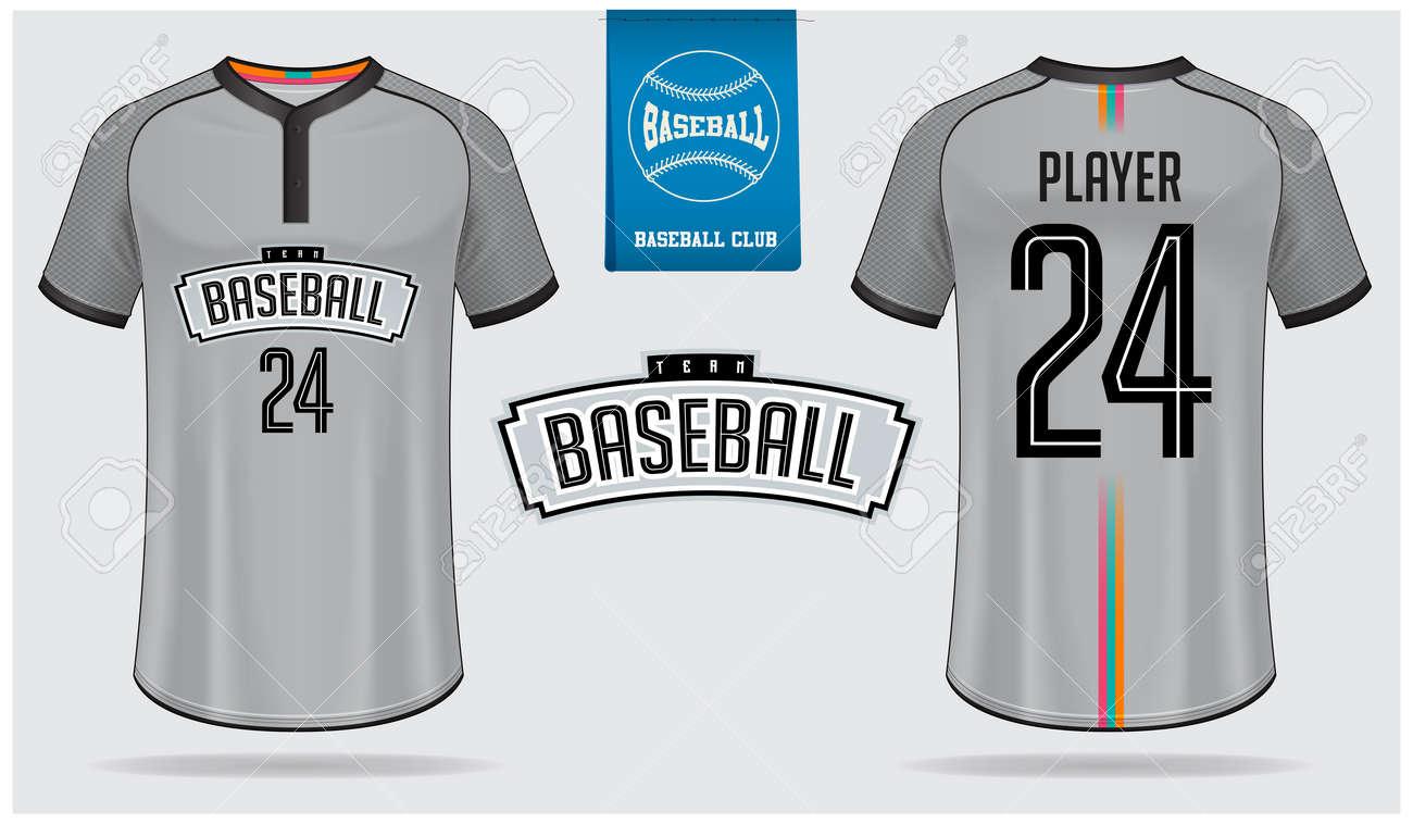 41b72177 Baseball jersey, sport uniform, raglan t-shirt sport, template design.  Baseball