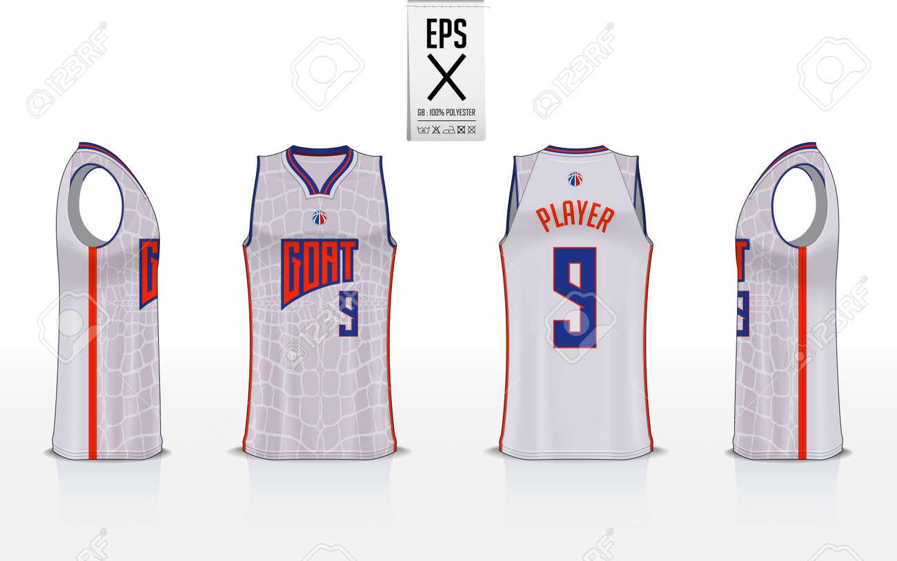 5e3407475ed6f6 Basketball uniform template design for basketball club. Tank top t-shirt  mockup for basketball