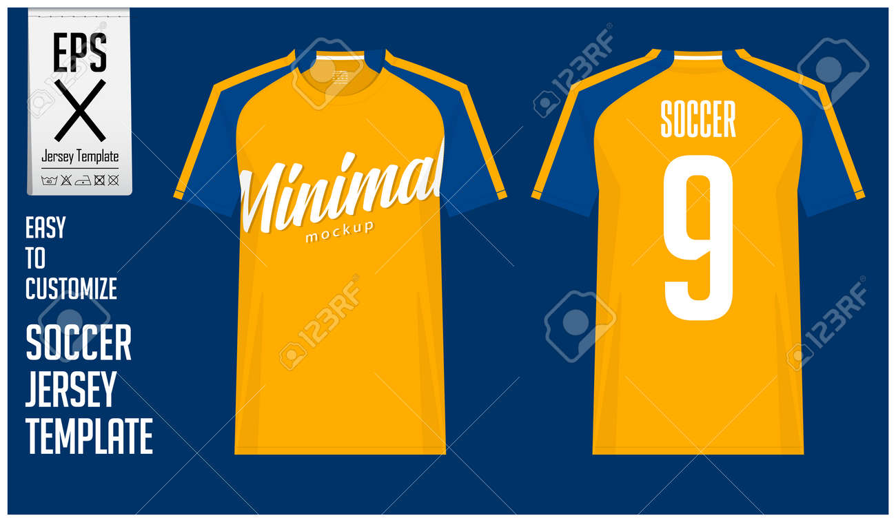 Soccer Jersey Football Kit Or T Shirt Sport Template Design Royalty Free Cliparts Vectors And Stock Illustration Image 120322127