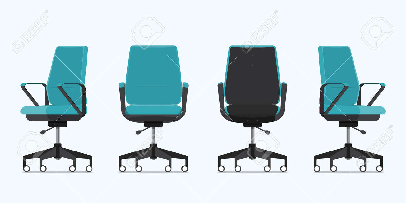 Image of: Office Chair Or Desk Chair In Various Points Of View Armchair Royalty Free Cliparts Vectors And Stock Illustration Image 120562423