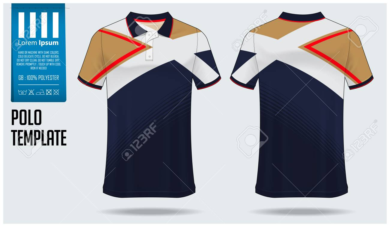 Polo T Shirt Mockup Template Design For Soccer Jersey Football
