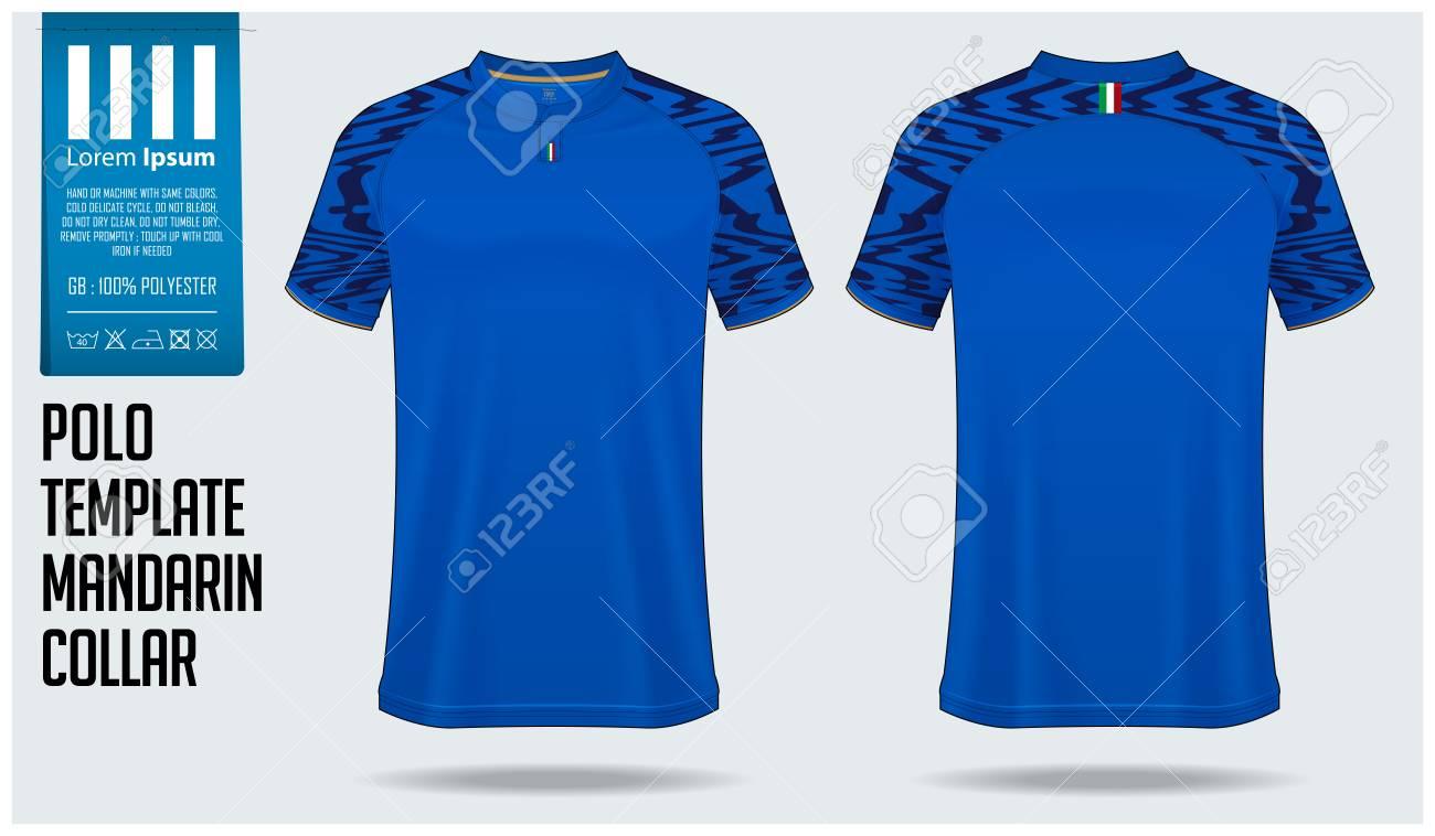 Chinese Collar Or Mandarin Collar Polo Shirt Mockup Template