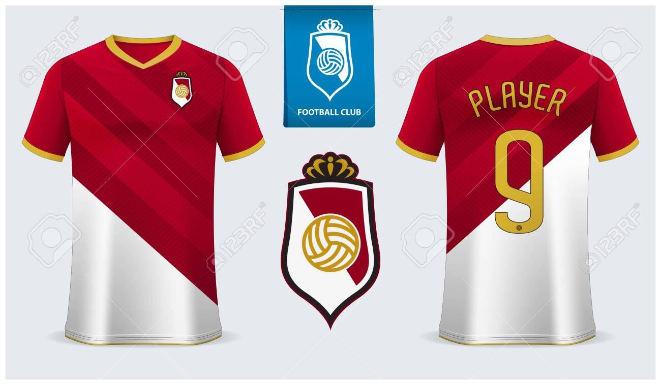 Soccer Jersey Or Football Kit Mockup Template Design For Sport