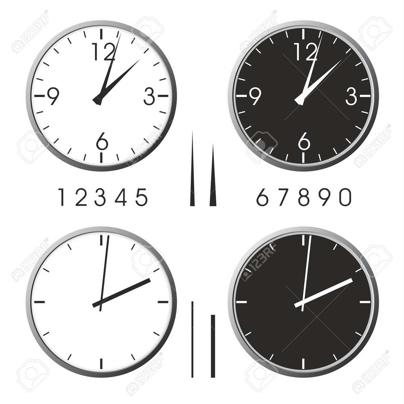 Office clock Stock Vector - 11465788