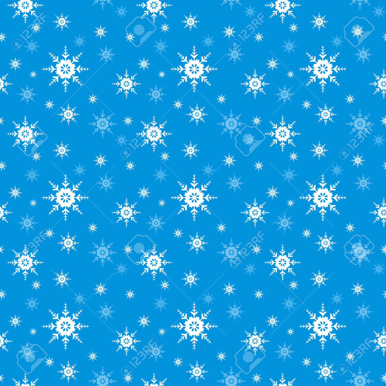 Seamless Snowflake vector background Stock Vector - 11465849