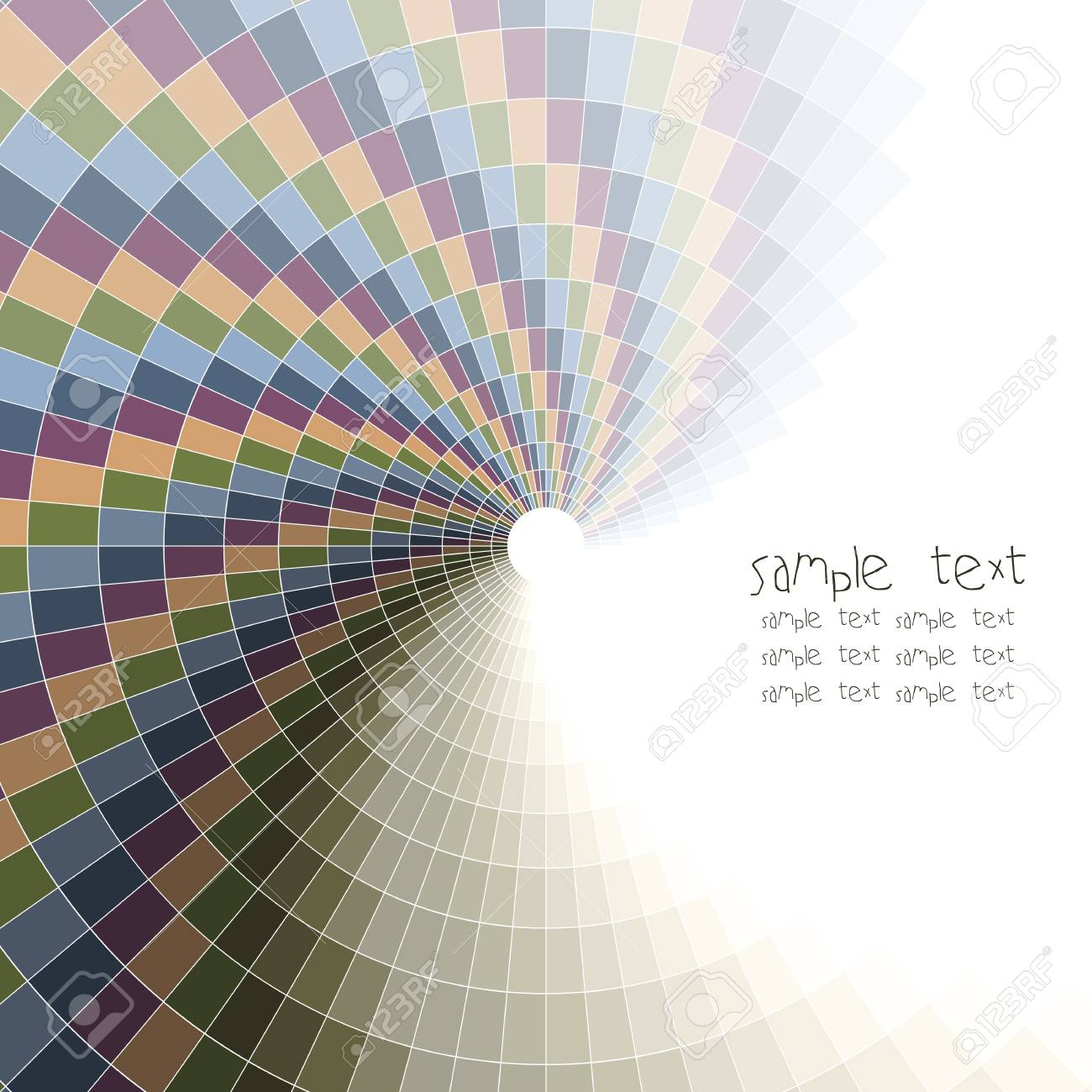 Abstract Vector Background Color Wheel Made Of Bricks Square