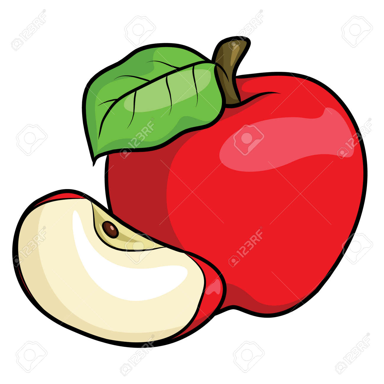 Illustration Of Cute Cartoon Apple Royalty Free Cliparts Vectors And Stock Illustration Image 87000550