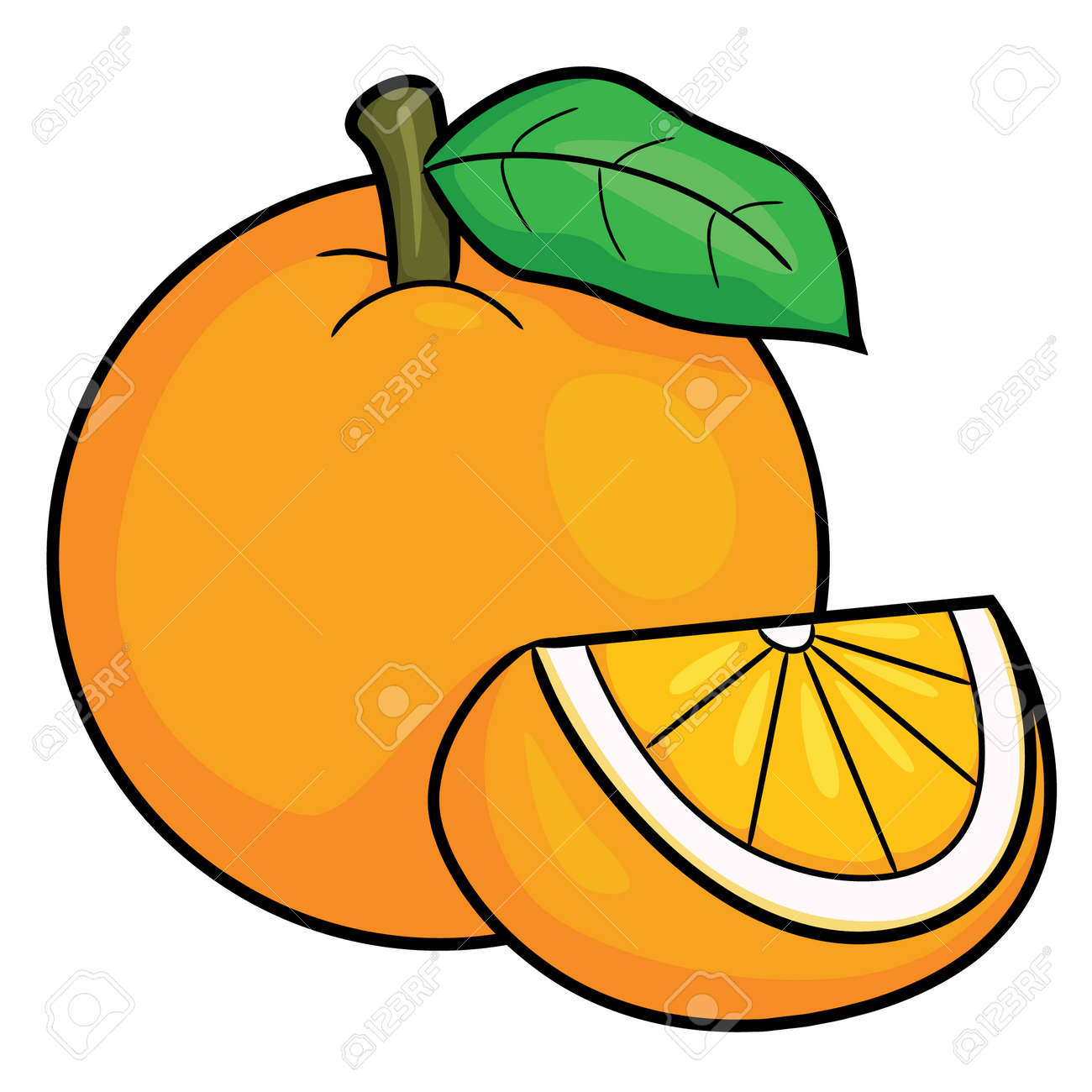 Orange Fruit Cartoon Pictures