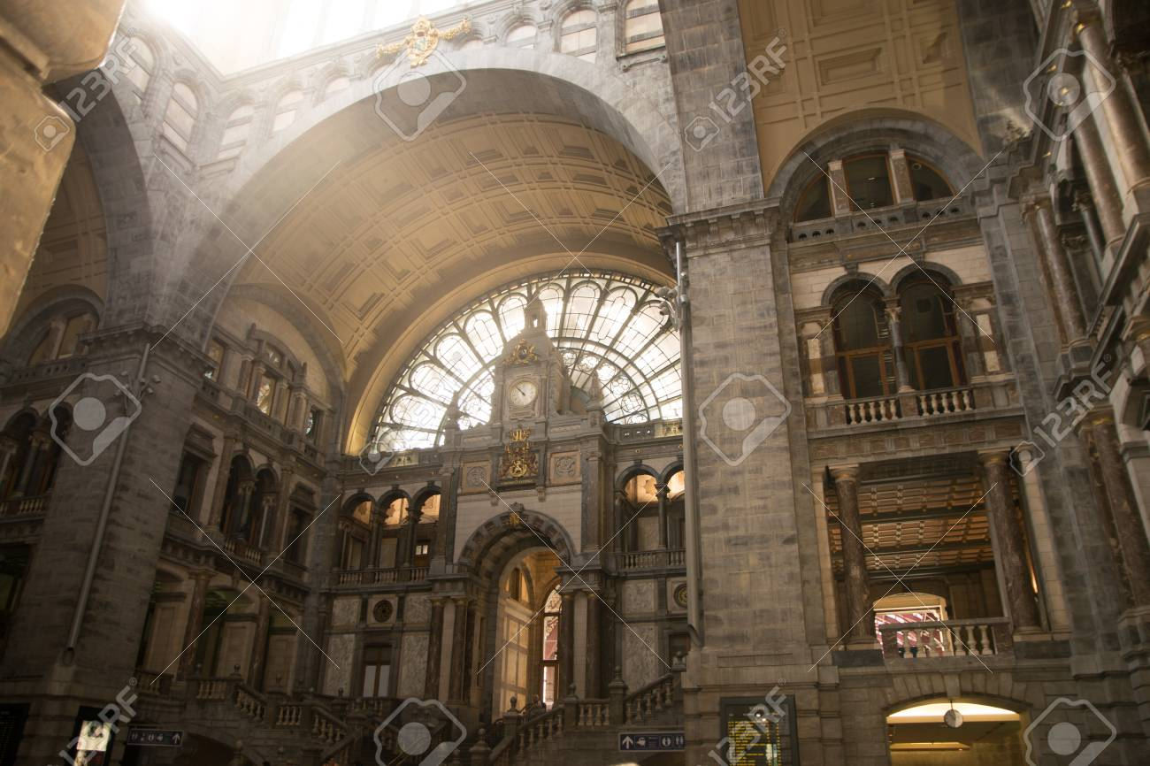 Antwerp Belgium May 26 2017 Central Railway Station Antwerpen Stock Photo Picture And Royalty Free Image Image 82850400