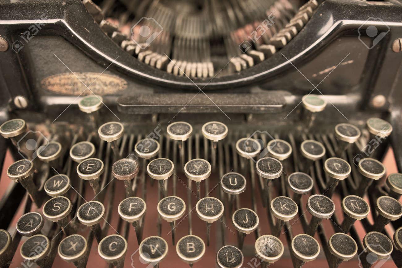 Close up of a Vintage Typewriter Machine - 132056944