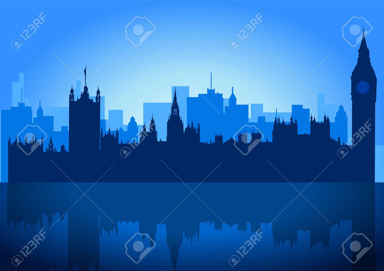 An illustration of London city skyline Stock Vector - 7931314