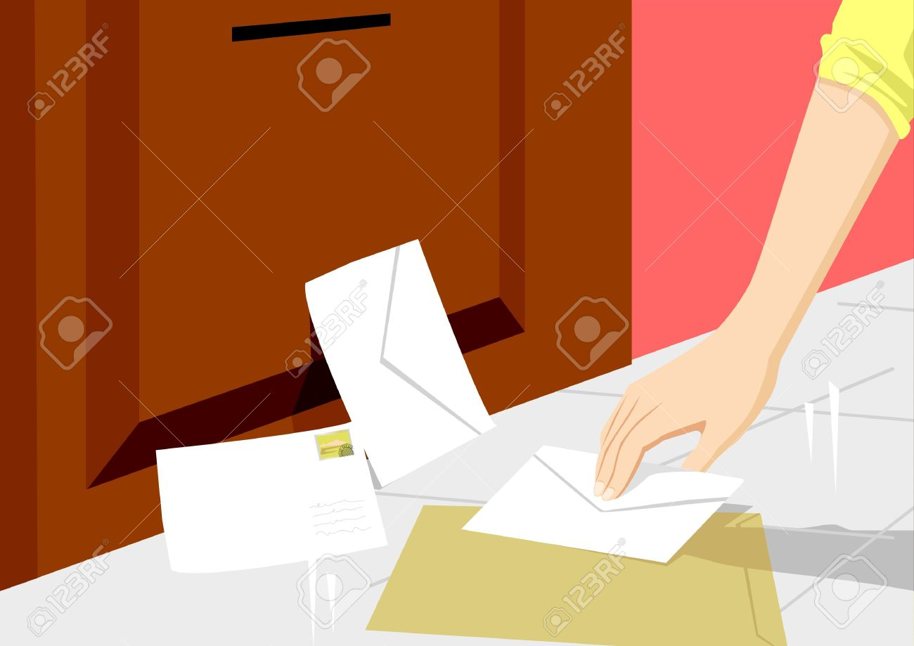 A person picking up letters Stock Vector - 8356116