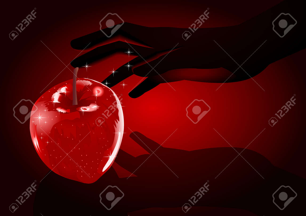 Stock illustration of a hand grabing an apple Stock Vector - 8529697