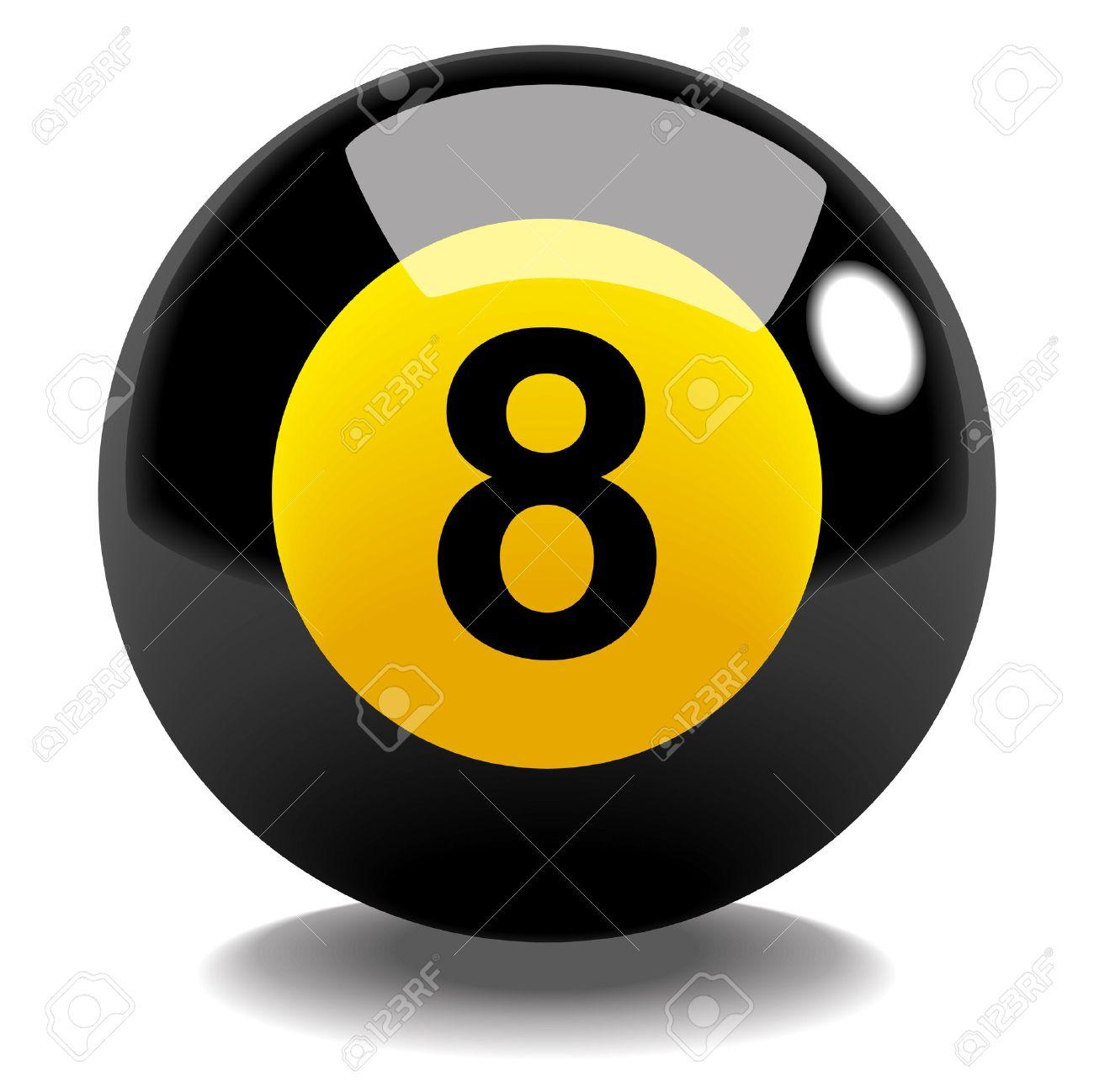 Resultado de imagen de bola de billar 8