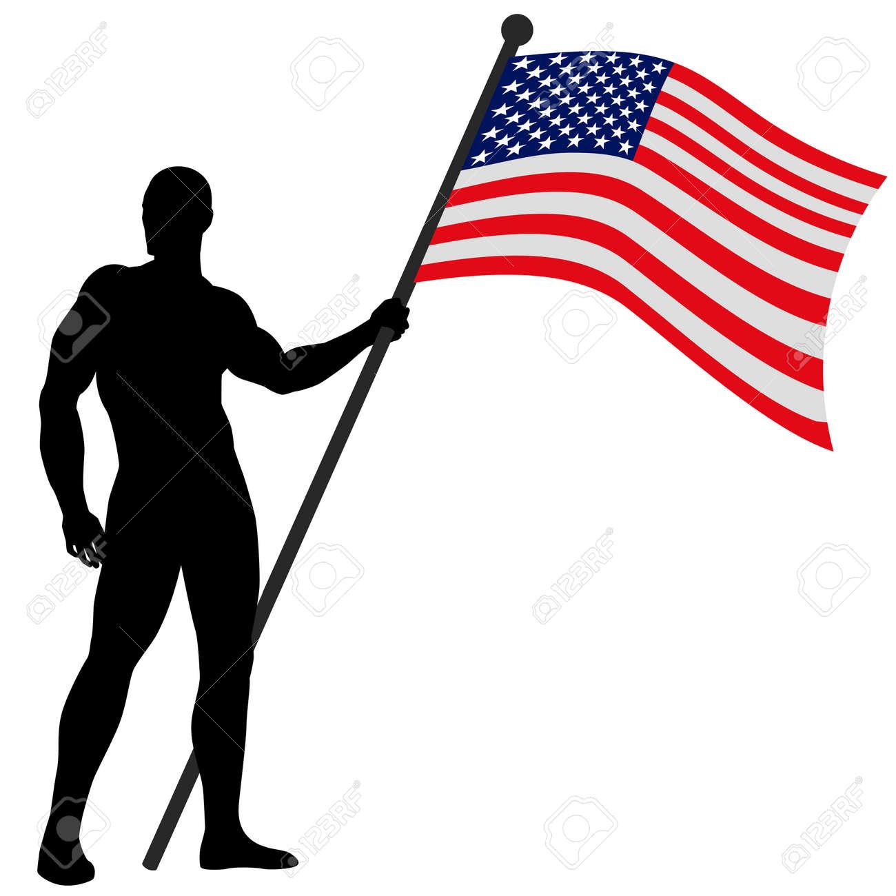 Vector illustration of a flag bearer Stock Vector - 9061603