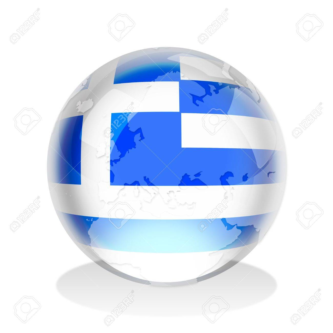 Crystal sphere of greek flag with world map stock photo picture crystal sphere of greek flag with world map stock photo 9303315 gumiabroncs Gallery