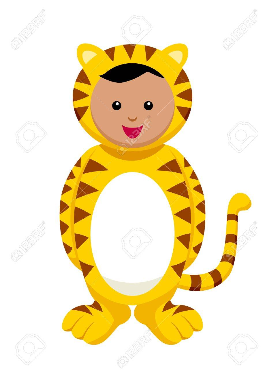 kid with tiger costume royalty free cliparts vectors and stock