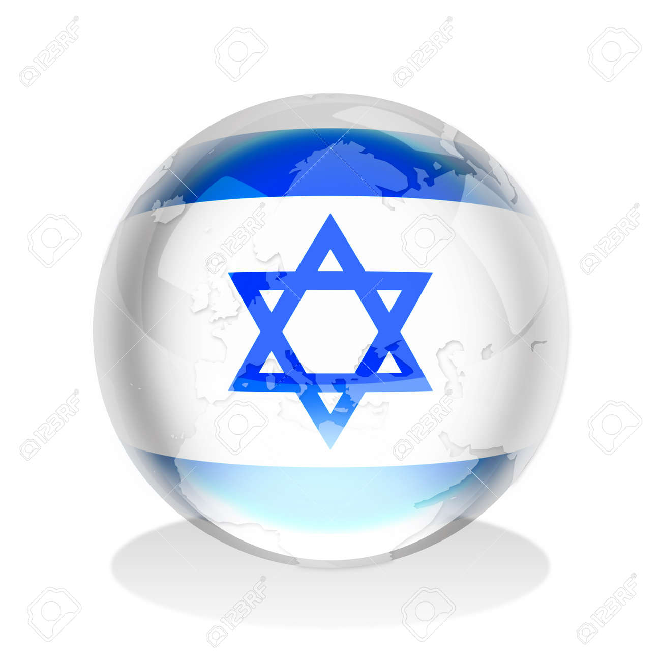 Crystal sphere of israel flag with world map stock photo picture crystal sphere of israel flag with world map stock photo 9511341 gumiabroncs Gallery