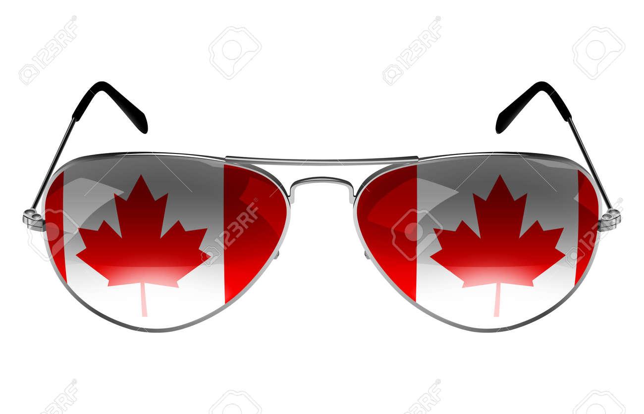 Fotos De Bandera Gafas Reflexión Sol La CanadáComo Con A53jL4R