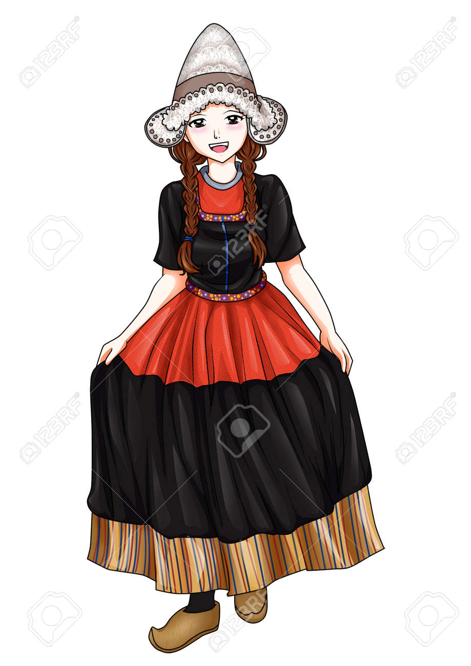 Dutch girl in traditional costume Stock Photo - 11917270