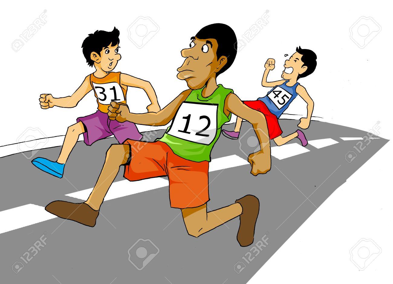 ddadc2c993 Foto de archivo - Ilustración de dibujos animados de los hombres de carreras