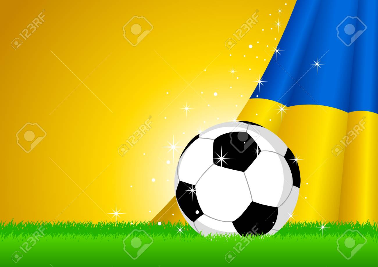 Vector illustration of a soccer ball with Ukraine insignia Stock Vector - 13462468