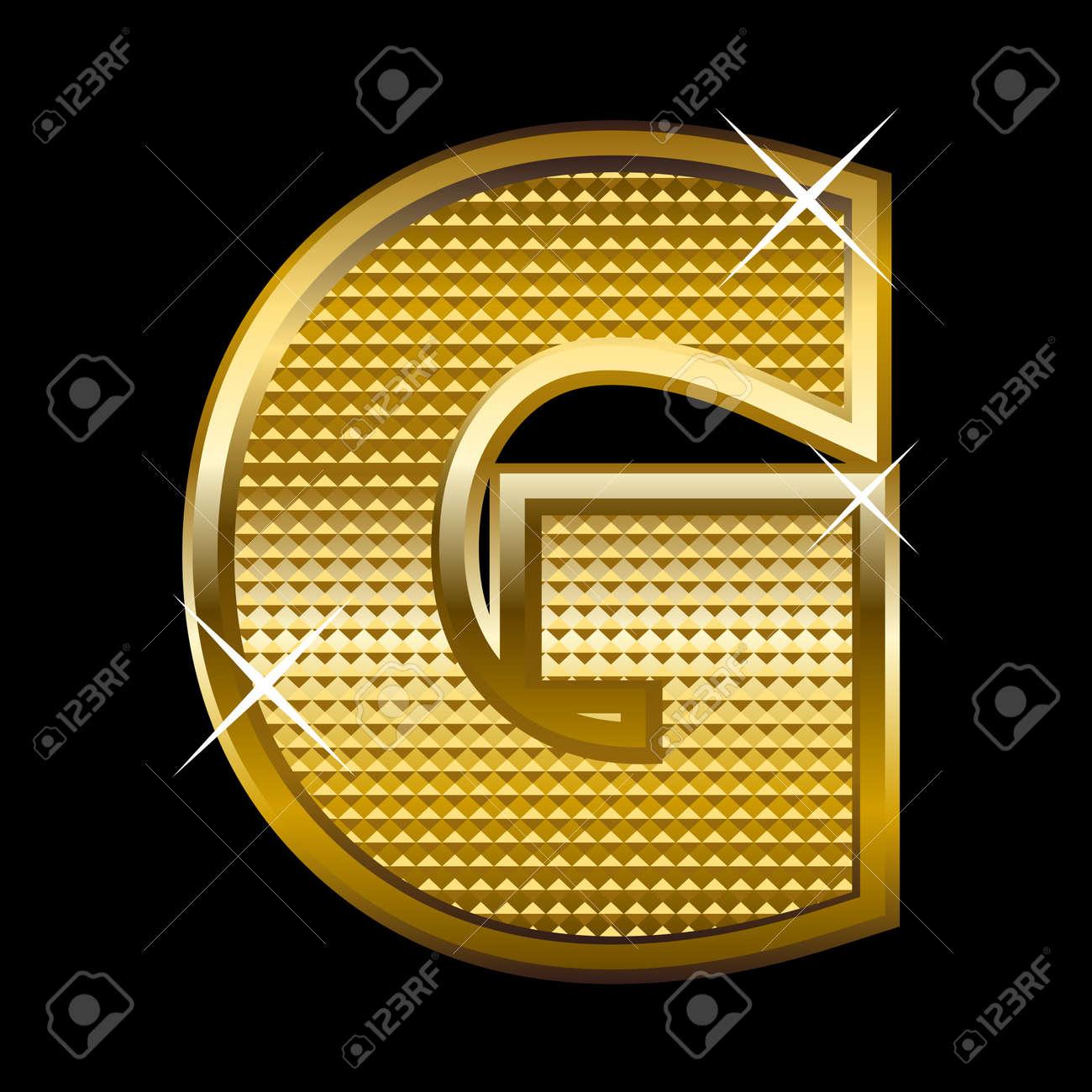 Golden font type letter G Stock Vector - 14512846