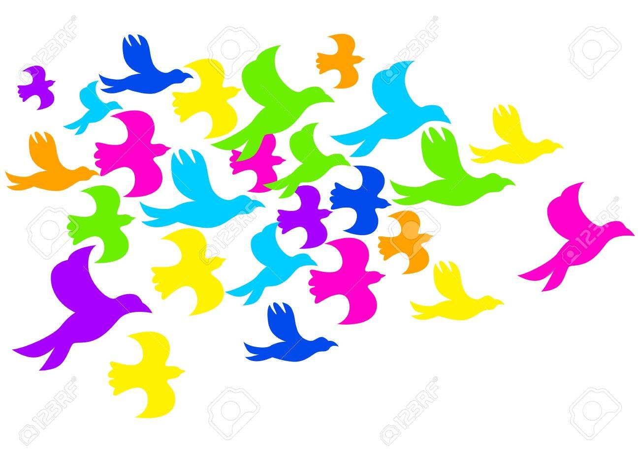 illustration of colourful birds Stock Vector - 16620861