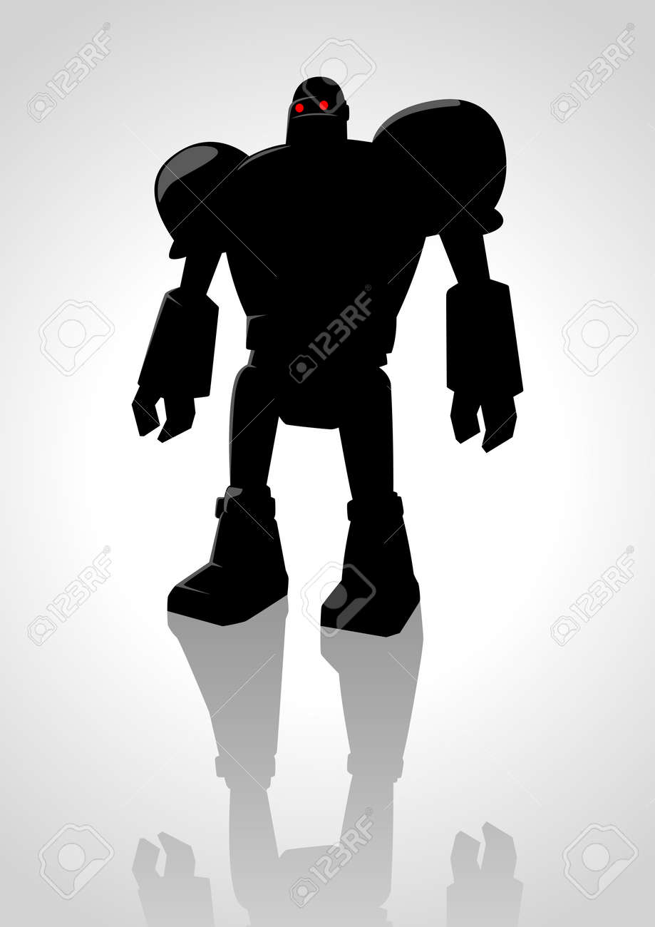 Silhouette illustration of a robot Stock Vector - 25444424