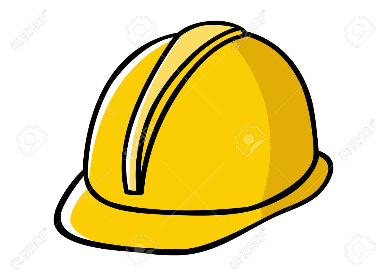 Doodle illustration of a construction worker hard hat Stock Vector -  36752798 64cbed475d3