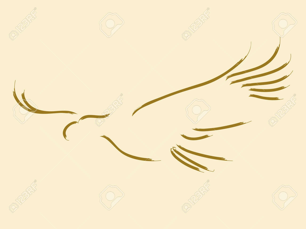 Simple Sketch Of A Soaring Eagle Royalty Free Cliparts, Vectors, And ...