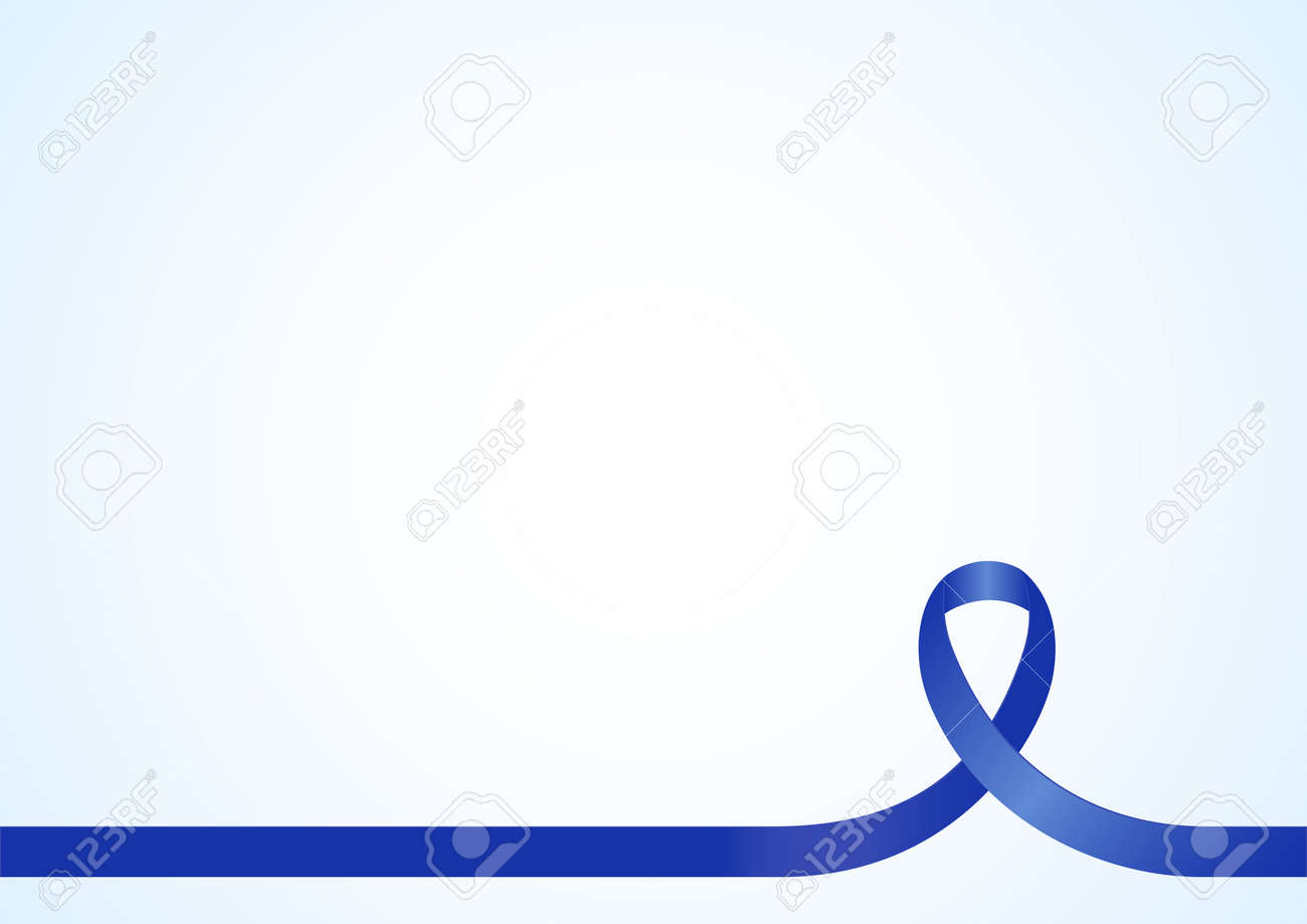 blue ribbon for awareness background template copy space blue ribbon for awareness background template copy space for cover page or advertisement