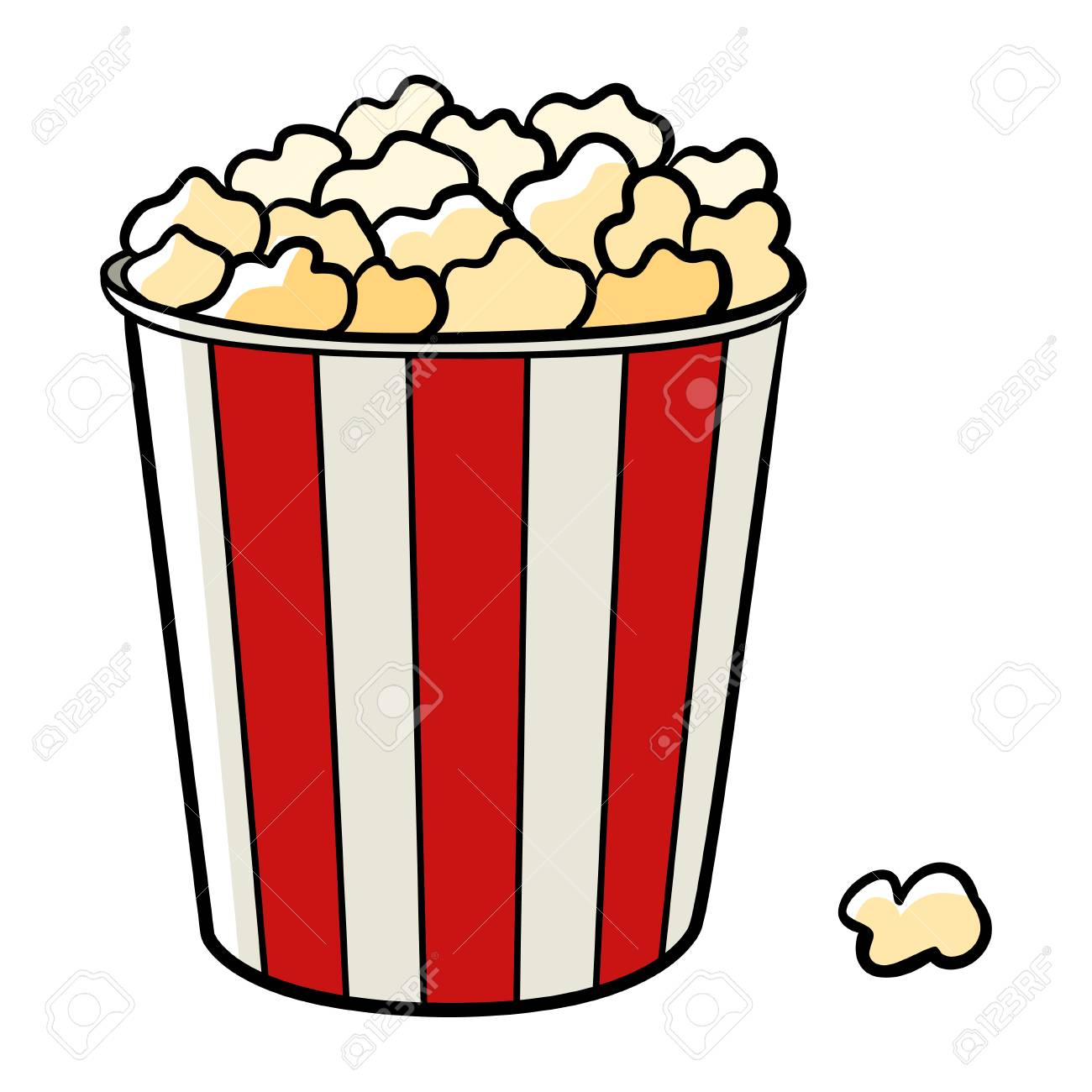 Cartoon Illustration Of A Bucket Of Popcorn Royalty Free Cliparts Vectors And Stock Illustration Image 50429847