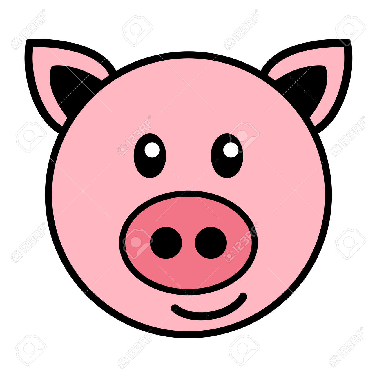 Simple Cartoon Of A Cute Pig Royalty Free Cliparts Vectors And Stock Illustration Image 51310406