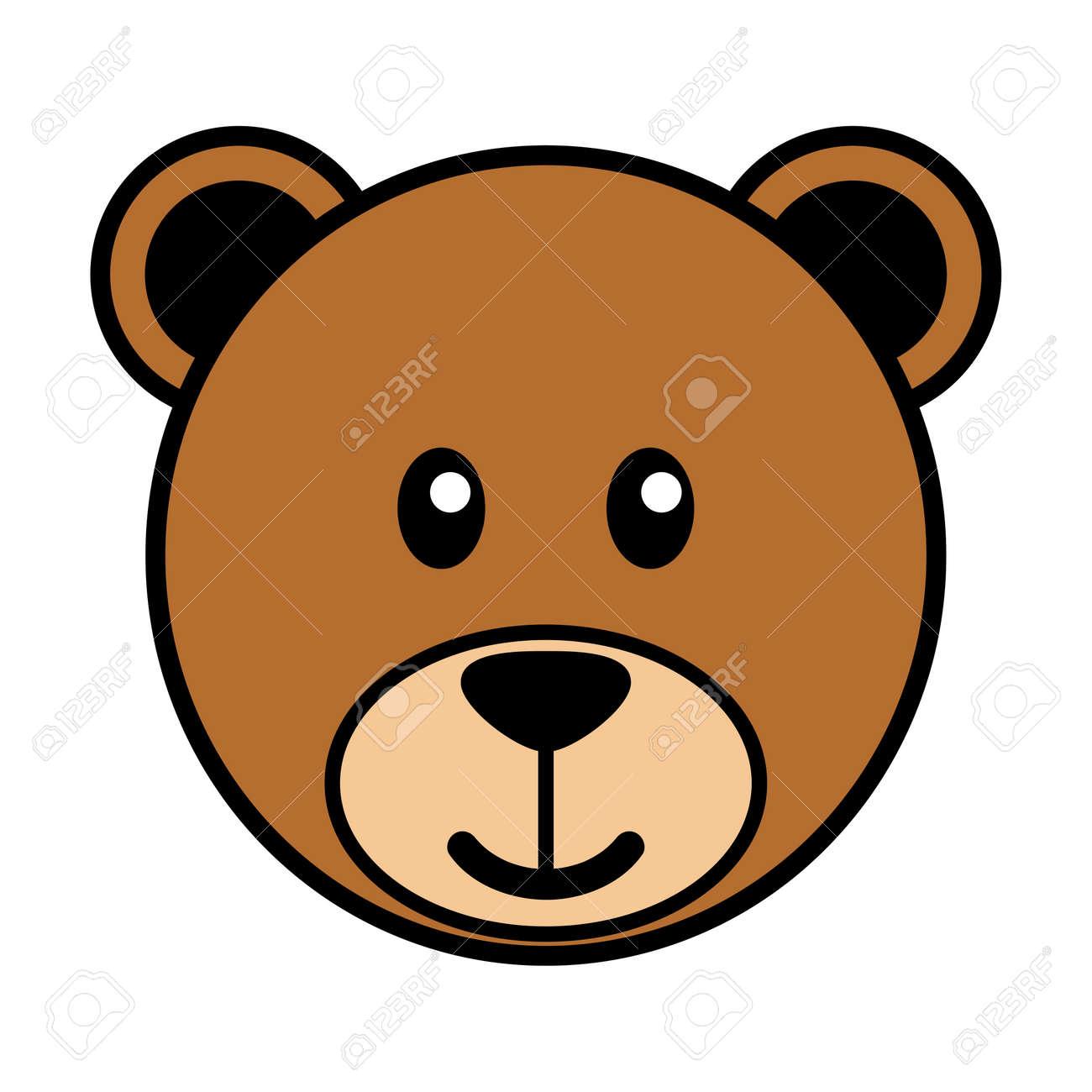 simple cartoon of a cute bear royalty free cliparts vectors and rh 123rf com cartoon bear face outline cartoon bear face pictures