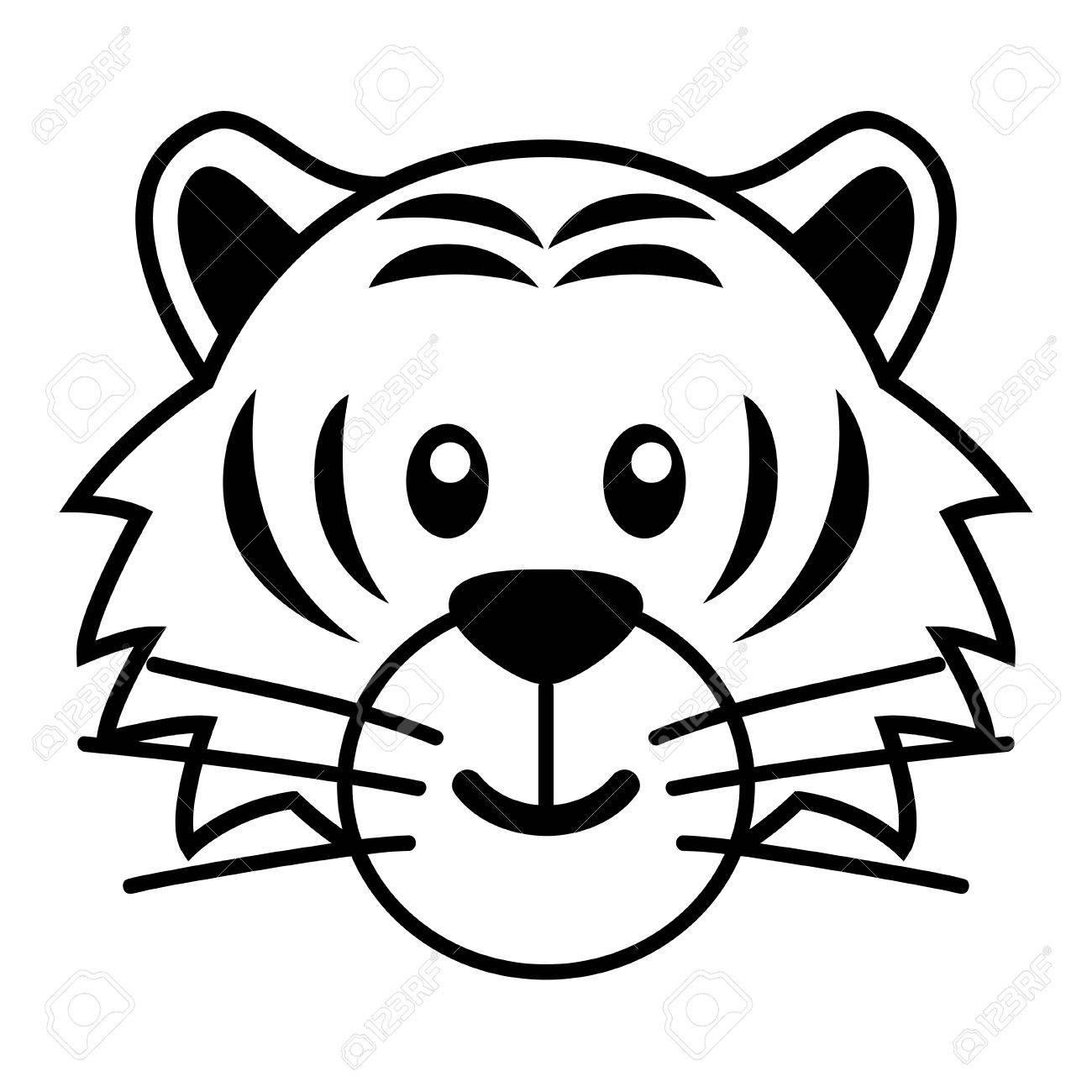 Lujo Dibujos De Caras De Tigres Para Colorear