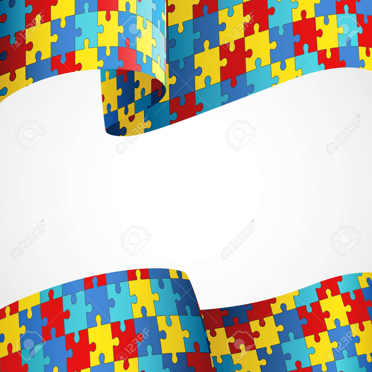 Colorful Puzzle Flag As The Symbol For Autism Awareness Royalty Free