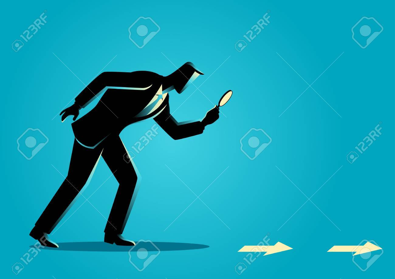 Business concept illustration. Searching, details, clue - 64990985