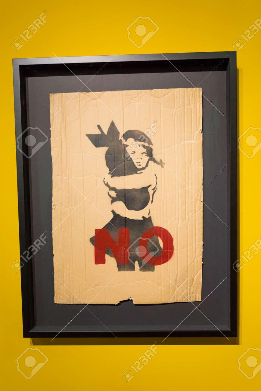 Amsterdam Nederland 23 July 2017: Moco Museum - Banksy Amsterdam ...