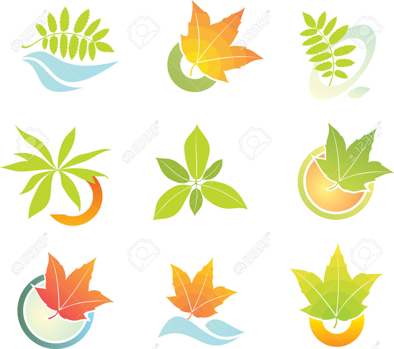 design logo leaf element royalty free cliparts vectors and stock rh 123rf com leaf vector machines leaf vector icon
