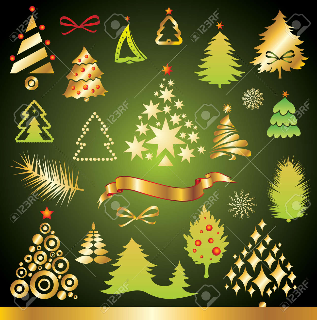 New Year set of design elements Stock Vector - 5936092