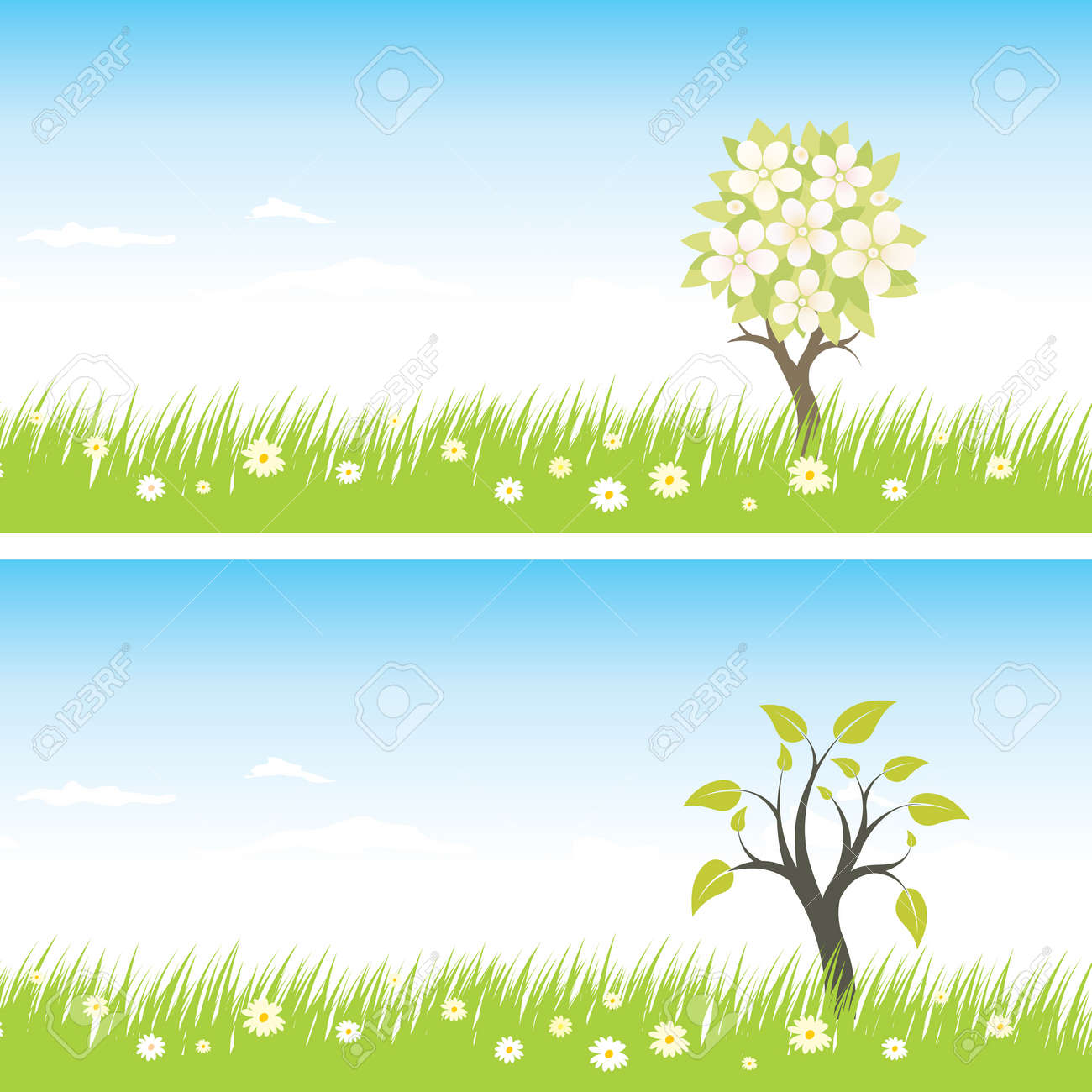 spring backgrounds with tree Stock Vector - 6901961