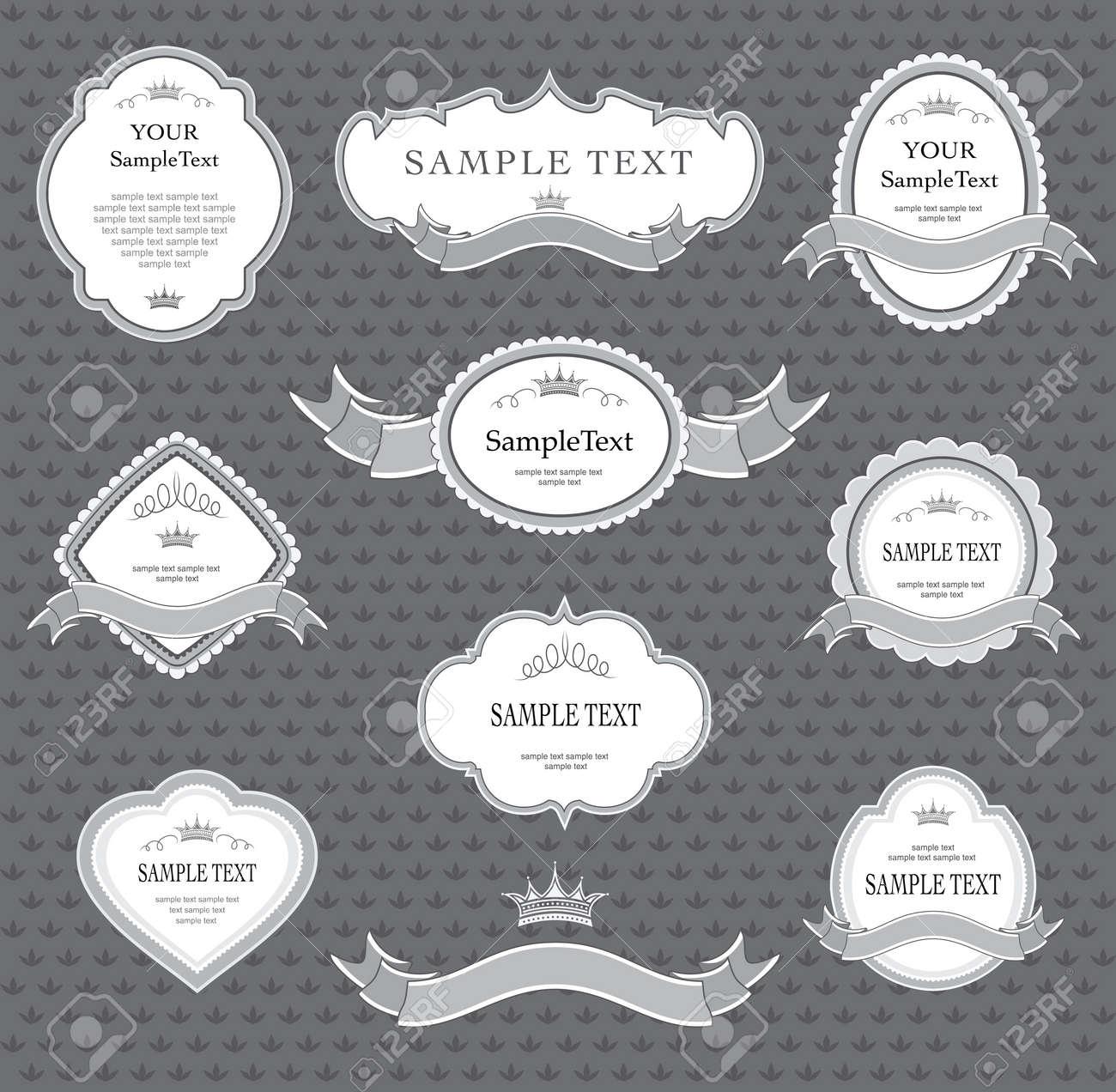 set of label design elements Stock Vector - 8078827