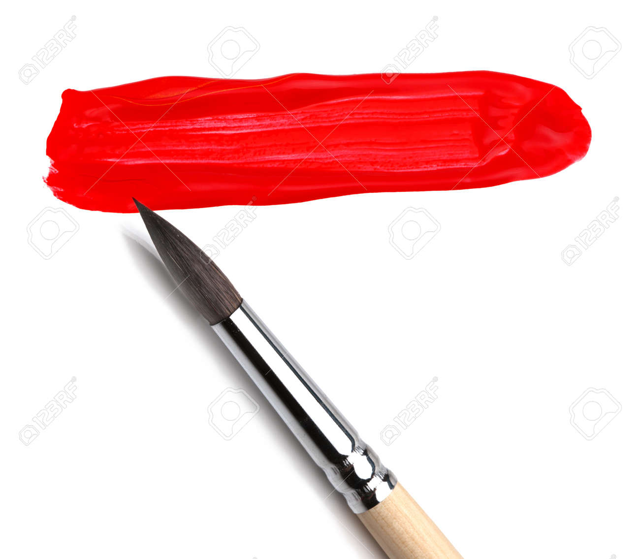 brush and red paint sketch Stock Photo - 8699579
