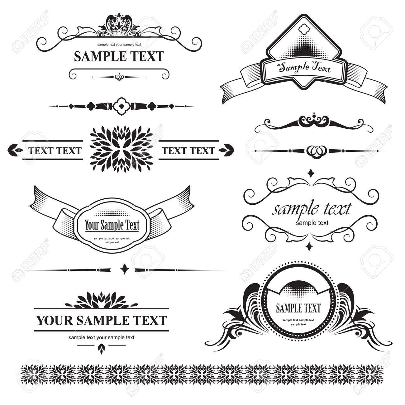 set of design elements Stock Vector - 9072287
