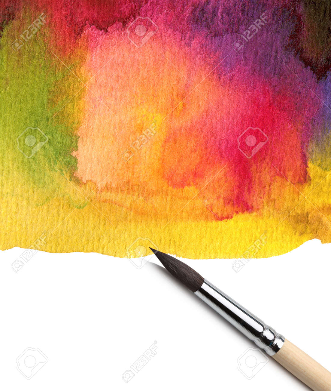 Watercolor art history brush - Stock Photo Watercolor Painted Background With Brush