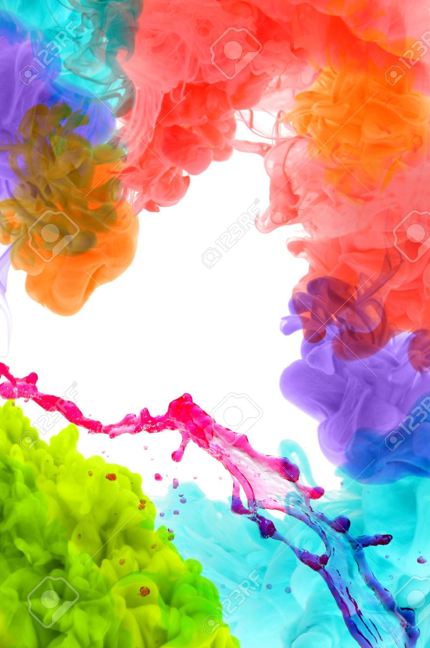 Free illustration watercolor pigment color free image - Acrylic Colors In Water Abstract Background Stock Photo 21920914