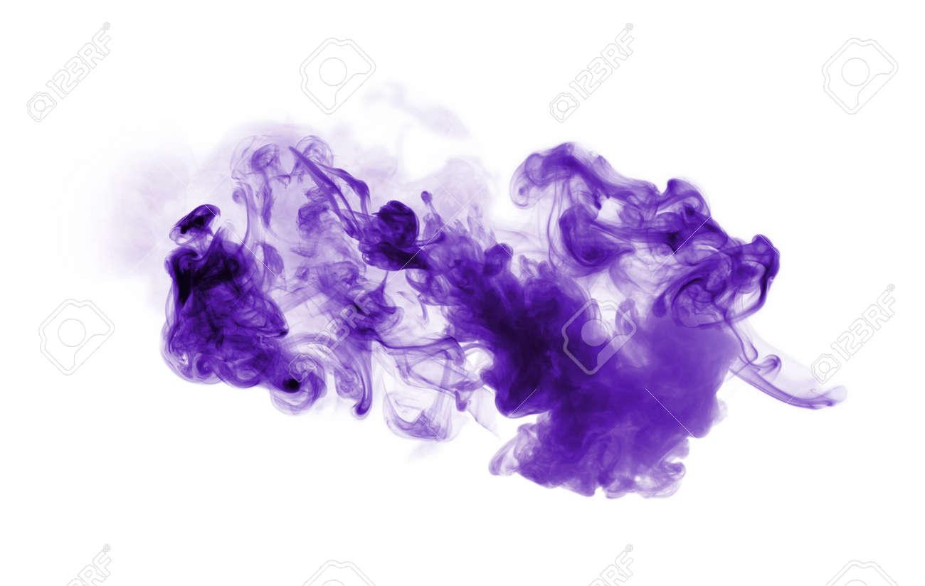 Violet smoke isolated on white background - 120562343