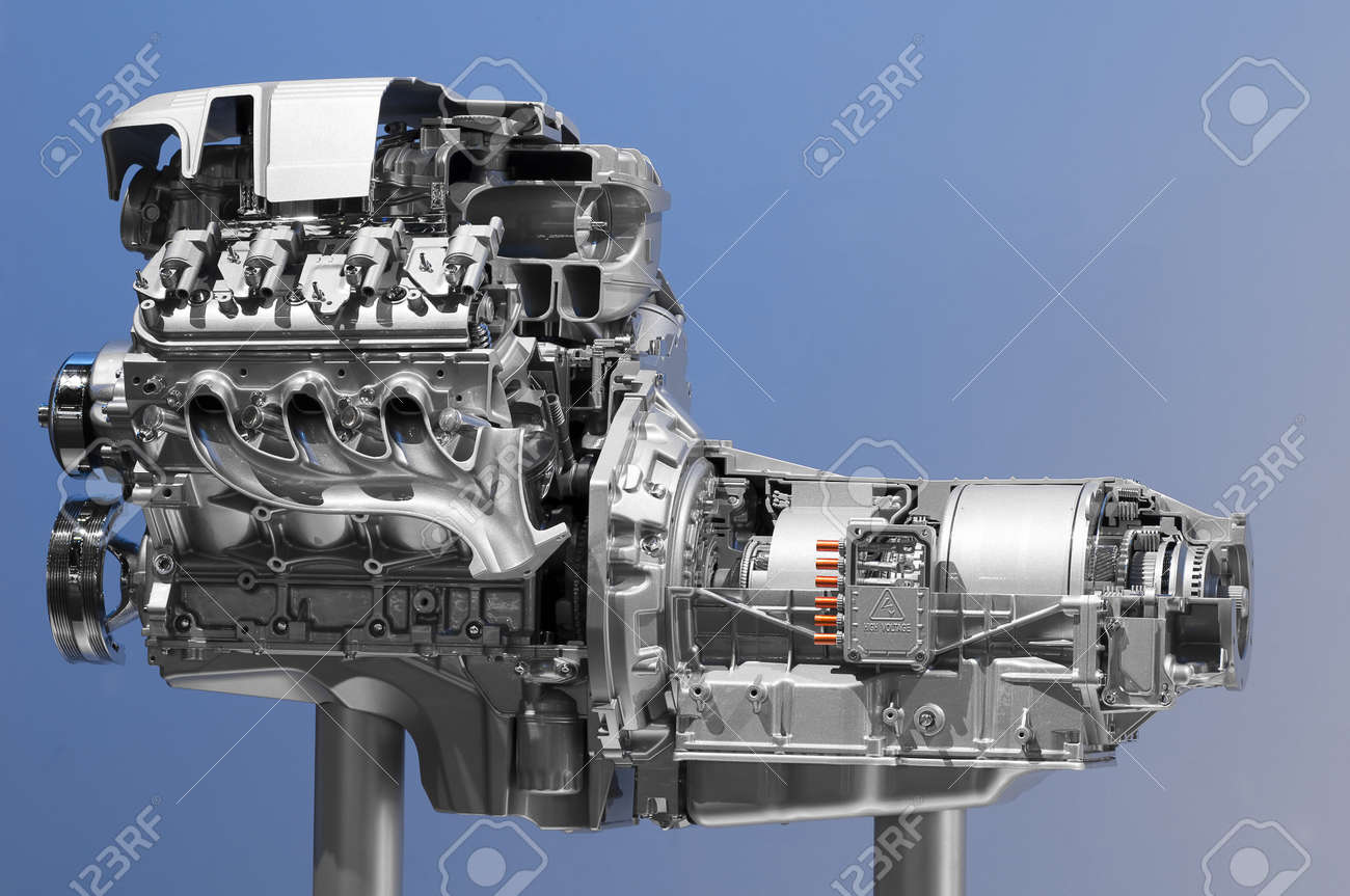 Hybrid car engine Stock Photo - 8891813